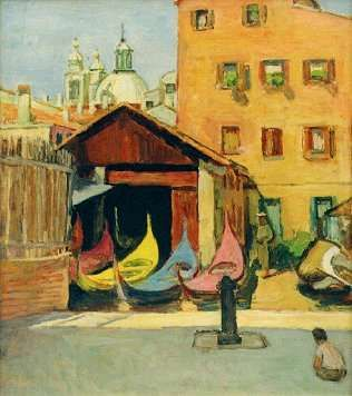 Vanessa Bell - Gondolas in Venice