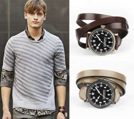 Burberry's Triple Wrap Leather Watch Makes Jewelry Styles for Guys #watches trendhunter.com