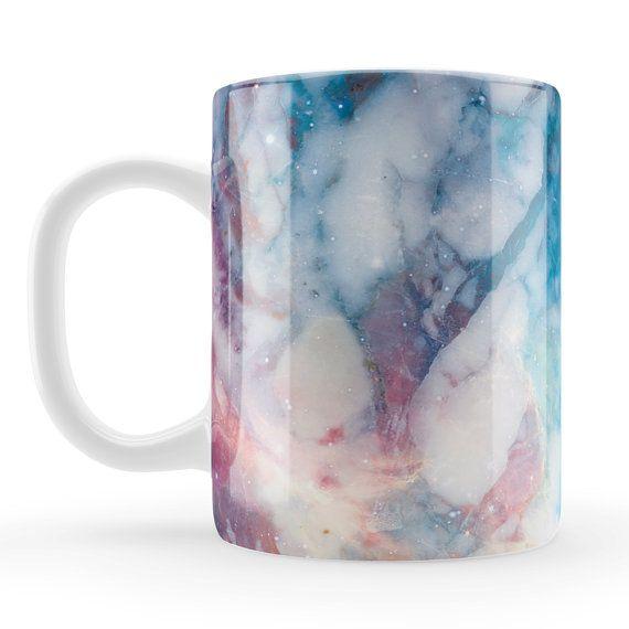 Space Marble Mug Unique unusual gift stylish marble by LoveMugsUK