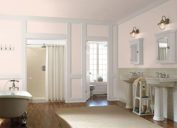 1st Floor Bathroom I Used These Colors Peach Rose Hdc Ct