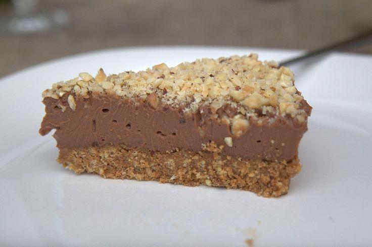 Nutella nepečený cheesecake