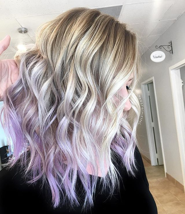 A Touch Of Lilac Creamy Blonde Hairbyashleypac