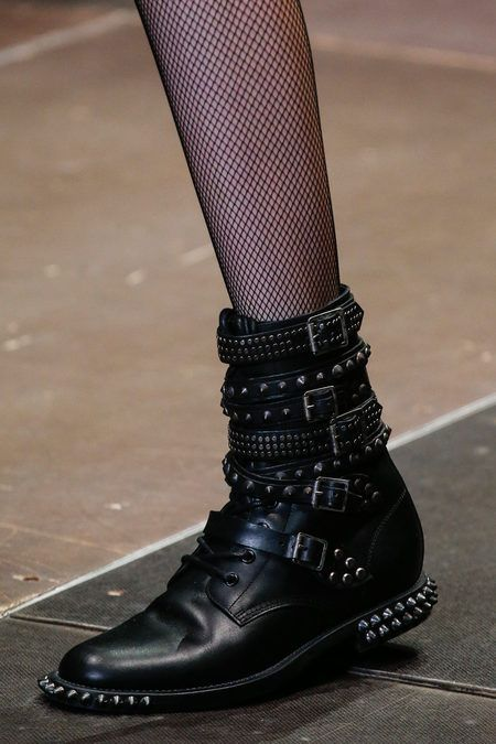 Saint Laurent Fall 2013 tudded boots