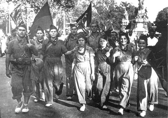 Anarchist militia, Barcelona. (1936) #Spain #war