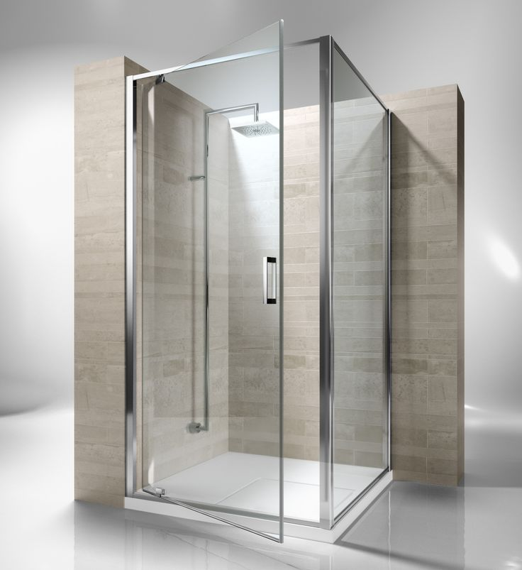 Framed shower enclosure with pivoting door. Reversible and extensible 4,5 cm in corner. Junior GA is incredibly versatile and suitable to solve multiple installation situations. Shower enclosures Junior by @vismaravetro | GA+GF