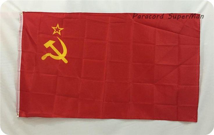[Visit to Buy] The RED BANNER USSR BANNER SOVIET UNION FLAG Russian Revolution BANNER FLAG SOVIET Socialist Republics banner 3 X 5 feet #Advertisement