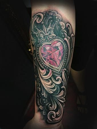 172 best tattoos images on pinterest tattoo ideas for Diamond heart tattoo