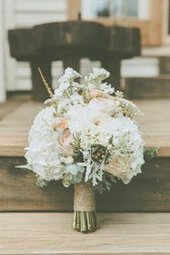 rustic bouquet bound in twine
