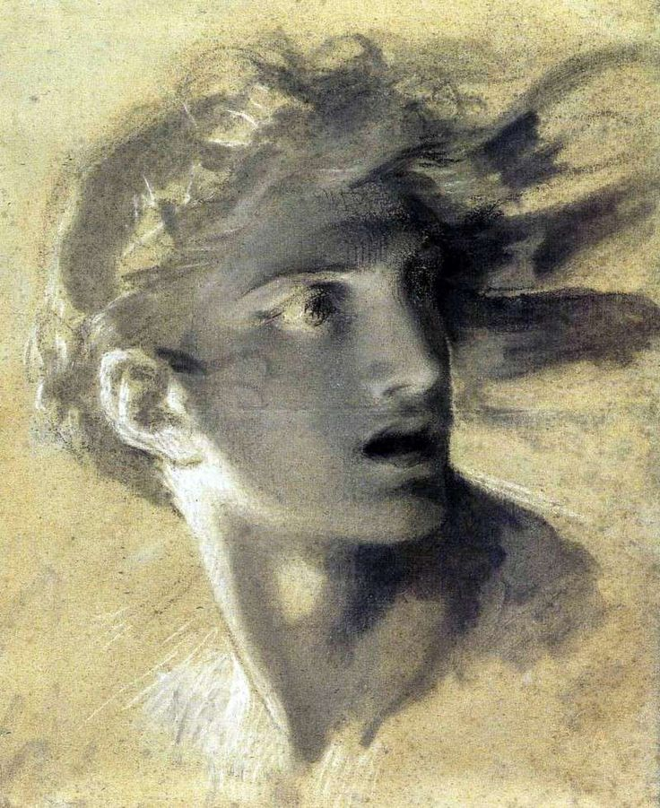 Pierre-Paul Prud'hon (French, 1758-1832) - Tête de la Vengeance divine (Head of divine vengeance)
