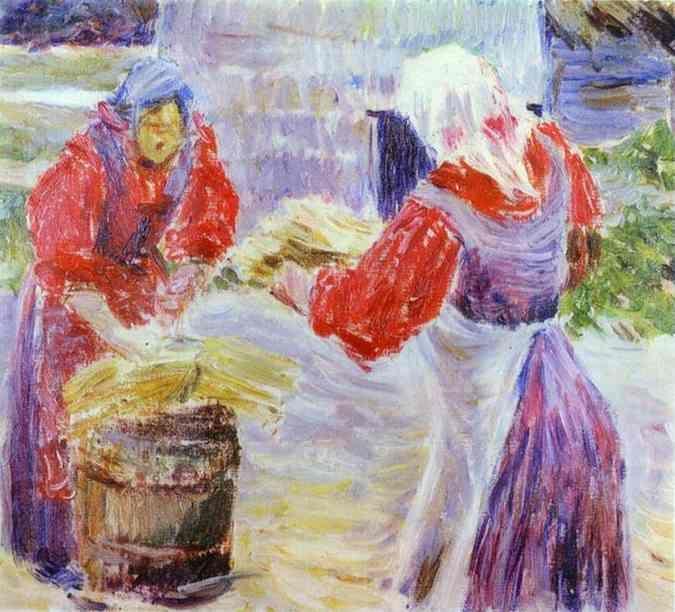 Peasant Women - Victor Borisov-Musatov