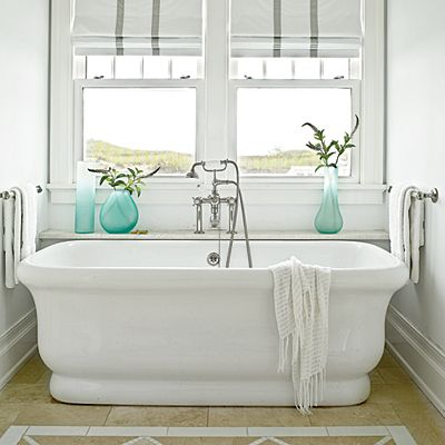 From high-end to laid-back, updated to old-fashioned, indoors to out, these baths offer hardworking design help and quick fixes.