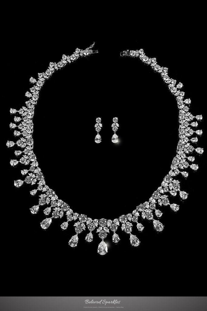Drina Vintage Luxury Necklace Set | 80 Carat | Cub…
