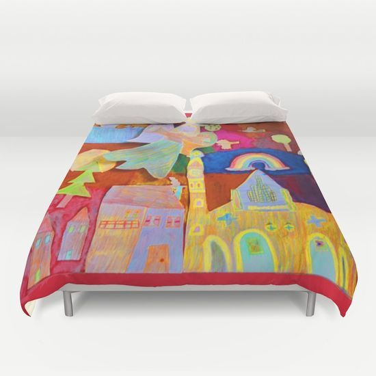 Rainbow Angel Duvet Cover by Azima Azima's art objects!!! FREE SHIPPING TODAY! #love #color #popart #dream #kids #sale #yoga #reiki #s6Pros #Society6designers #Society6max #society6 #Society6RT #society6home #yoga #kids #society6allforkids #mandhala #mandala #spirit https://society6.com/product/rainbow-angel295924_duvet-cover#s6-6661534p38a46v343