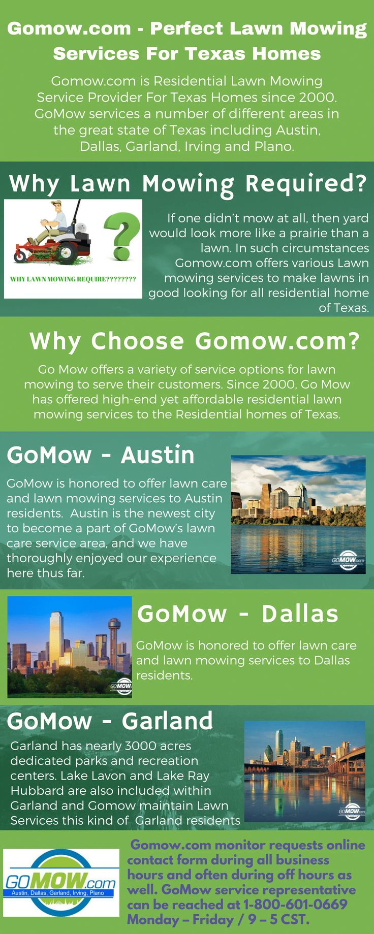 Lawn care advertising ideas - Gomow Offers A Variety Of Service Options For Lawn Mowing To Serve Their Customers Since