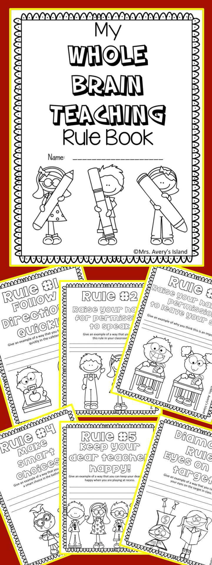 WHOLE BRAIN TEACHING FREEBIE!! Are you a Whole Brain teacher? If so, take advantage of this FREE Whole Brain Teaching rule booklet!  After teaching your students the WBT rules, your students can create a coloring booklet and provide a constructed response to the different rules! No doubt they will put their WHOLE HEART into their WHOLE BRAIN booklet!  Download at:  https://www.teacherspayteachers.com/Product/Whole-Brain-Teaching-Rule-Book-2021564