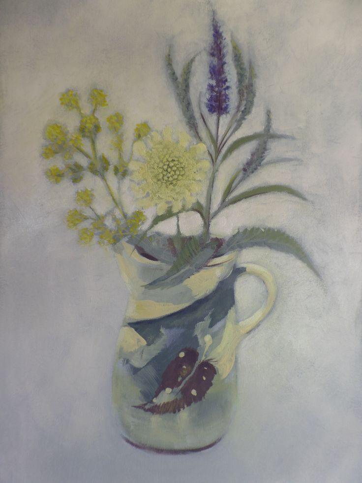 Giant scabious and a Mary Johnson jug
