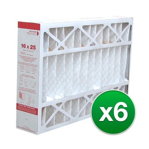 Replacement Pleated Air Filter for For Honeywell CF200A1008 Furnace 16 x 25 x 4 Merv 11 (6 Pack), Grey smoke