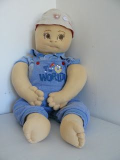 Bambole e Pupazzi: Geppo. Neddle soft sculpture doll