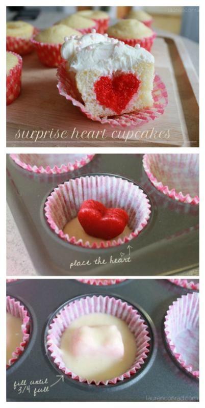 Surprise Heart Cupcakes: A smart shortcut | Lauren Conrad