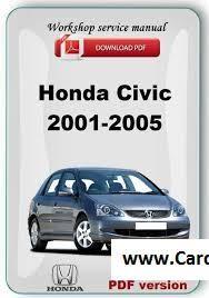 2001 – 2005 Honda Civic Service Repair Manual PDF