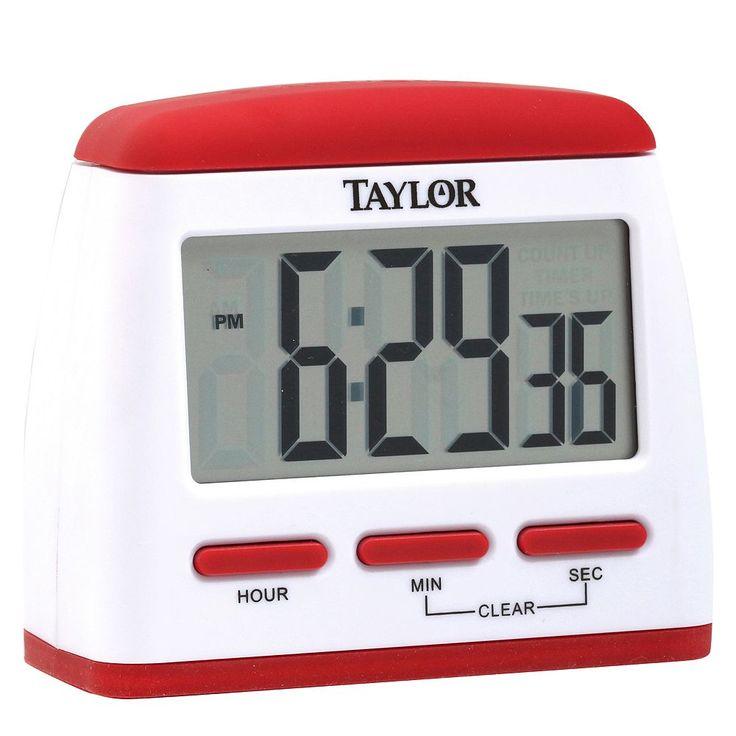 Taylor Big Easy Timer Clock, Red