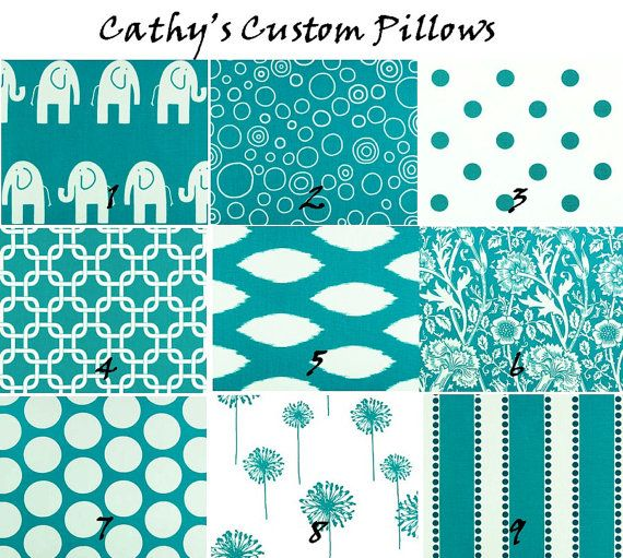 CURTAINS PREMIER FABRIC Turqoise Collection by Cathyscustompillows, $134.00