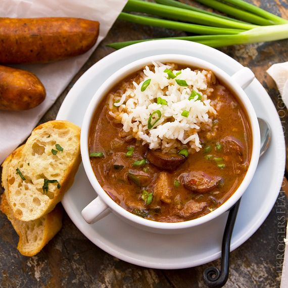 Smoky, rich and loaded with flavor, Ford Fry's gumbo has both andouille sausage and duck in the spicy mix.