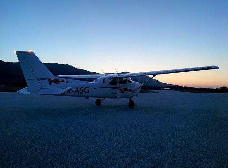 SX-ASG in Mytilene Airport for Night VFR training