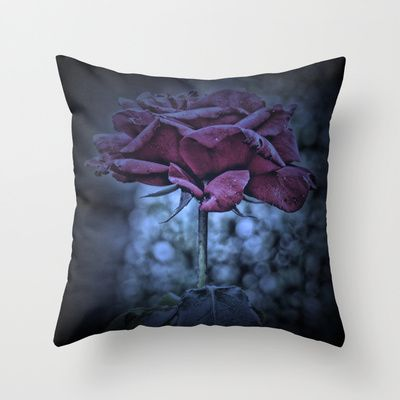 Purple Rose Throw Pillow by AngelEowyn. $20.00