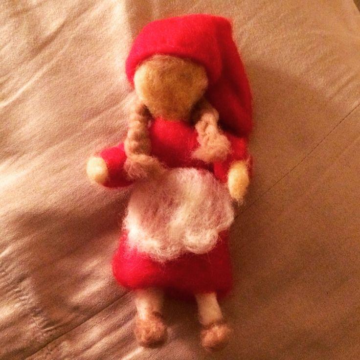 Needle felted Christmas elf.