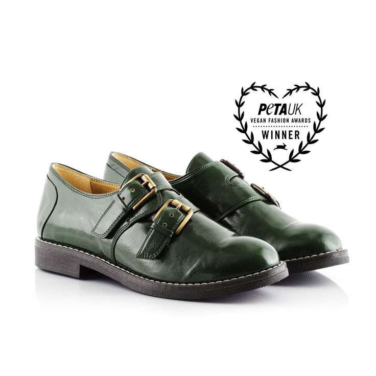 Bourgeois Boheme AW15 Kristen Vegan Forest Monk shoe pair (1)