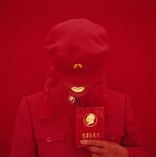 THE MAO BRIDE (RED GUARD RED). SELF-PORTRAIT, 2009