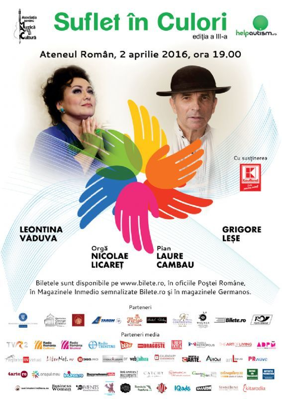 Sambata, 2 Aprilie 2016, ora 19:00, Ateneul Roman, Bucuresti