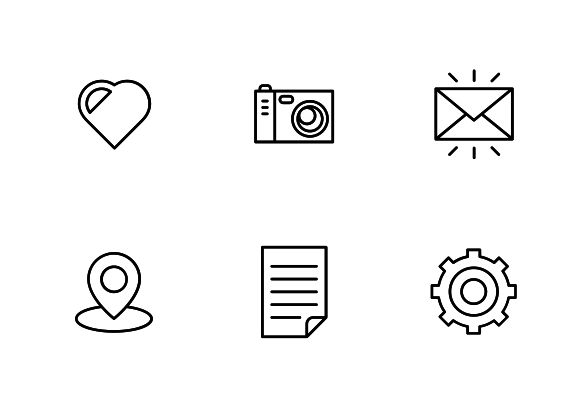 """Vector color filled bold line icons. """"Simple and popular"""" set. #LineIcons #VectorIcons"""