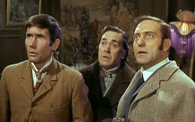 Jim Dale, Peter Butterworth and Harry H. Corbett in Carry On Screaming!
