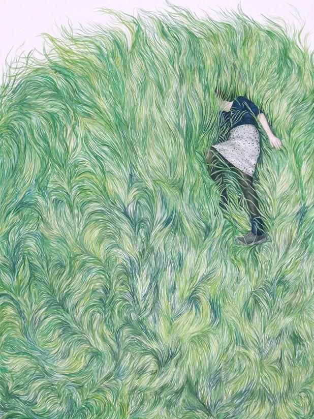 Monica Rohan #illustration #drawing #green
