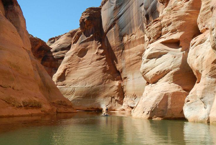 Paddleboarding Antelope Canyon at Lake Powell ...