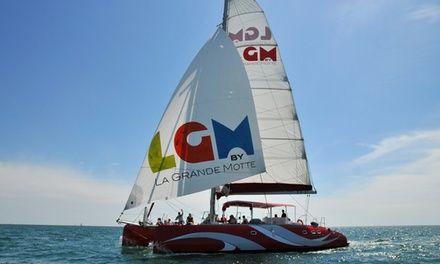 Catamaran Lucile 2 à La Grande Motte : Balade romantique en catamaran: #LAGRANDEMOTTE 29.90€ au lieu de 82.00€ (64% de réduction)
