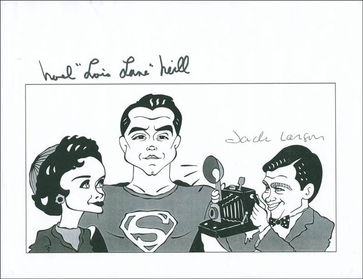 SUPERMAN TV CAST - PRINTED ART SIGNED CO-SIGNED BY: NOEL NEILL, JACK LARSON