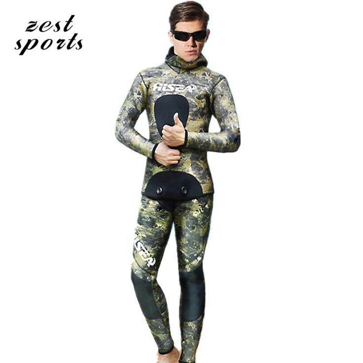 63.00$  Buy now - http://ali2de.shopchina.info/go.php?t=32804404078 - M063, men 3.5mm Neoprene wetsuit, Two-piece, green camouflage printing, winter keep warm swimsuit. Fishing camouflage clothes 63.00$ #buyininternet