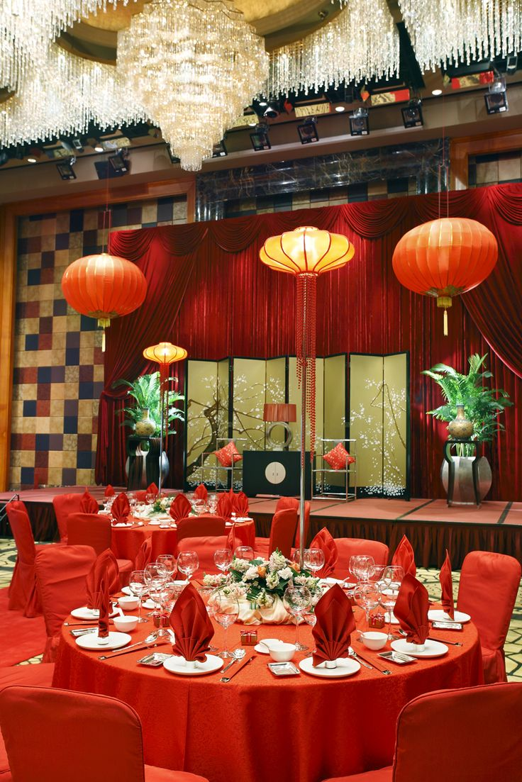 15 must see chinese wedding decor pins chinese lanterns - Table ronde rouge cuisine ...