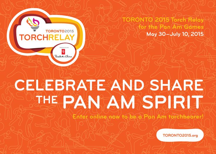 The TORONTO 2015 Pan Am Torch Relay will be a 41 day journey across Canada, stopping in Markham on the way to Toronto. This is your chance to #CelebrateAndShare the Pan Am Spirit!