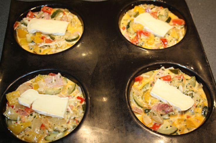 Tortilla de légumes gratinée au reblochon empreintes grands ronds