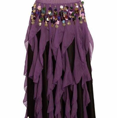 TUTORIAL DIY + 1001 NOITES: Como fazer Saia Frufru para Dança do Ventre