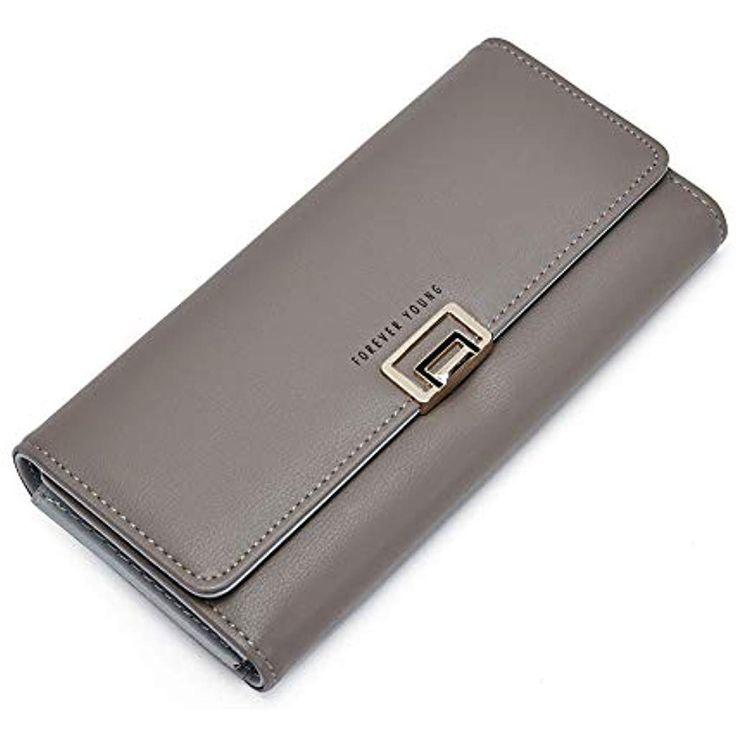 Damen Leder Geldbörse Lang Kreditkarte Portemonnaie Geldbeutel mit Kartenfäche…