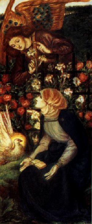 The Annunciation, 1859 - Dante Gabriel Rossetti - WikiArt.org