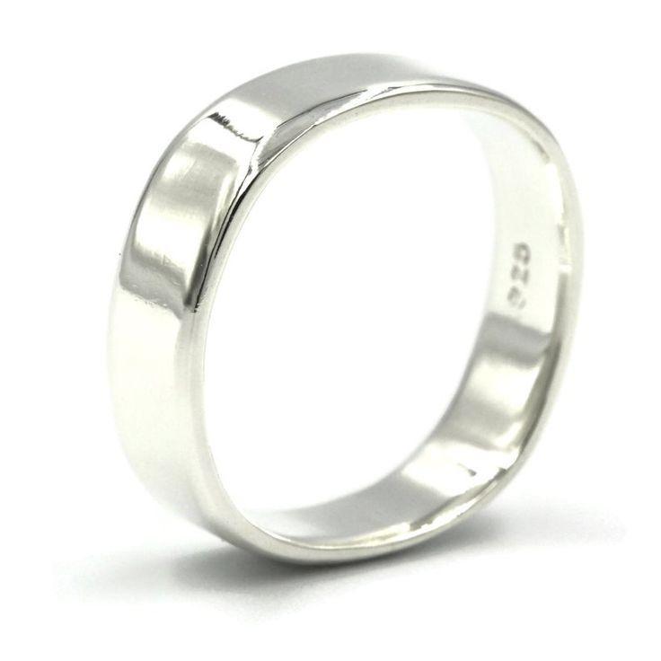 Unisex Fashion Plain Silver Gold Titanium Steel Ring Engagement Wedding Bands HU