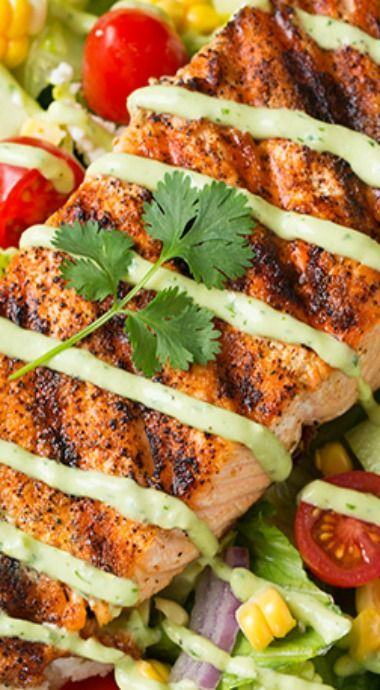 Mexican Grilled Salmon Salad