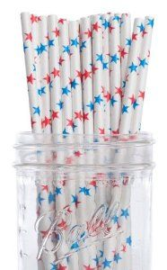 Dress My Cupcake Red and Blue Stars Paper Straws, 100-Pack by Dress My Cupcake. $26.50. FDA approved. Our paper drinking straws are long-lasting, strong and durable, making them great for birthdays, weddings, picnics and much more. These paper straws are 100-percent biodegradable. Pack of 100 Retro Red and Blue Stars Drinking Straws (7-3/4-inch long)-Great for any occasion. Made from all natural material with food grade ink. Dress My Cupcake is the world's largest manufact...