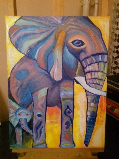 Elephant, Oil, 70x40